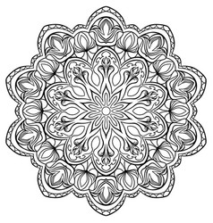 page for coloring book outline flowers doodles vector image
