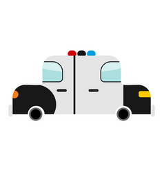 Police car cartoon style isolated transport on vector