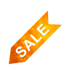 polygon golden icon sale vector image
