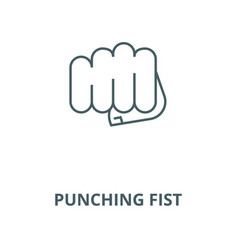 punching fist line icon linear concept vector image