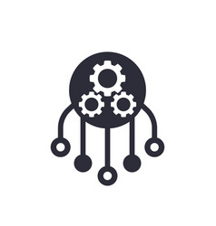 Resources allocation icon vector