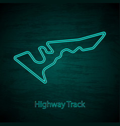 rocket jump high speed circuit outline vector image