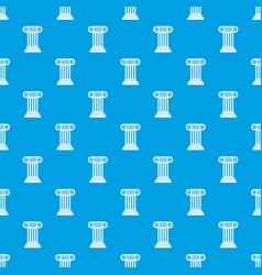 roman column pattern seamless blue vector image