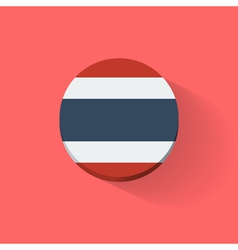 Round icon with flag of Thailand vector