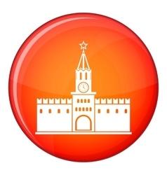 Russian kremlin icon flat style vector