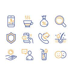 Security mobile finance and doppio icons set vector