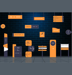 signboards for business vector image