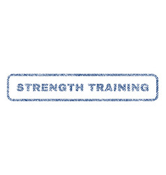 strength training textile stamp vector image