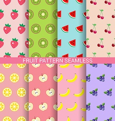 Sweet fruit seamless pattern set vector