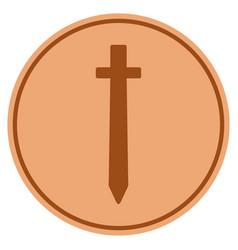 Symbolic sword bronze coin vector