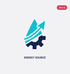 Two color energy source icon from ecology concept vector
