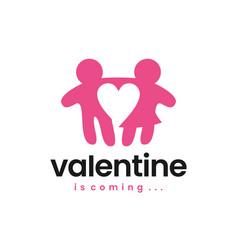 valentine man woman boy girl love logo icon vector image