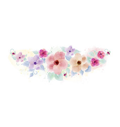 watercolor hand painted with bouquet flower vector image
