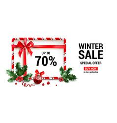 winter sale frame vector image