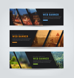 black banner of standard size with diagonal vector image