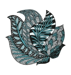 Doodling hand drawn amazing feathers in tattoo vector