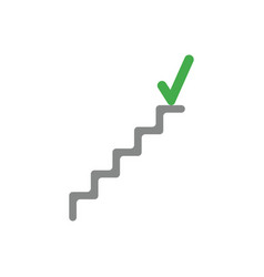 flat design style concept of stairs with check vector image vector image