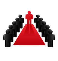 group of people near red carpet vector image vector image