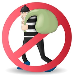 no and stop thief vector image vector image