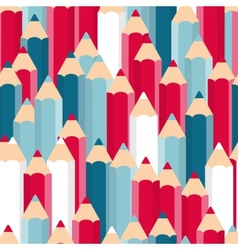 Pencils Seamless Pattern Background vector image vector image