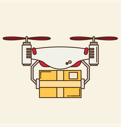 Remote air drone with a box vector