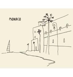 Sketch streets Monaco drawn vector image vector image