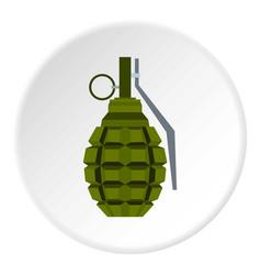 Hand grenade icon circle vector