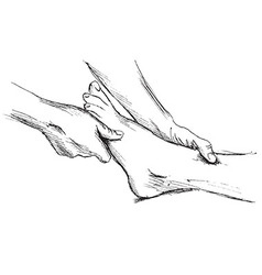 Hand sketch massage feet vector image