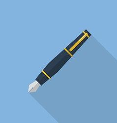 Pen flat icon vector image vector image