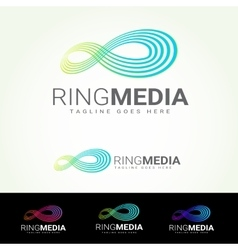 Ring media logotype vector
