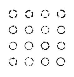 round motion arrow symbols circle arrows vector image