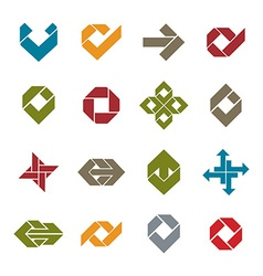 Abstract unusual icons set creative symbols vector image vector image