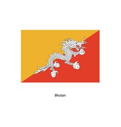 bhutan flag vector image