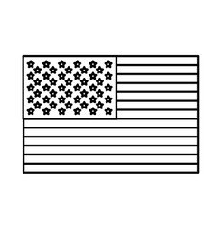 figure united states flag icon vector image