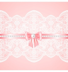 lace fabric background vector image