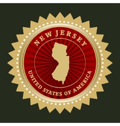 Star label New Jersey vector image vector image