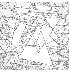 Geometric simple black and white minimalistic vector image vector image