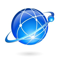 Global connection and navigation technology vector image