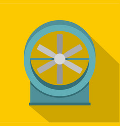 metal electric fan icon flat style vector image