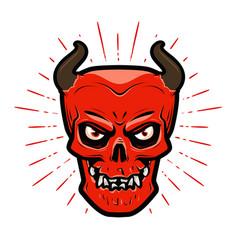 portrait of angry devil halloween satan lucifer vector image