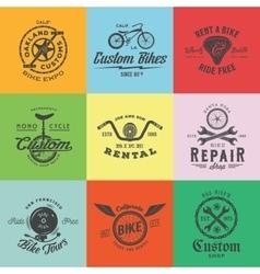 Retro custom bicycle labels or logo vector
