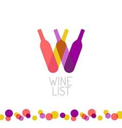 Wine list restaurant menu title transparent style vector image