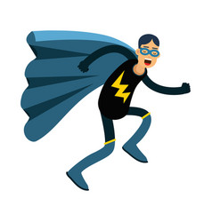 young masked man in a superhero costume and blue vector image