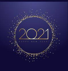 2021 glittering golden circle deep blue bg vector image
