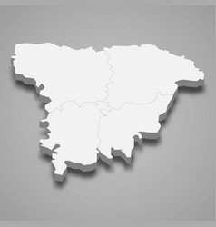3d isometric map sylhet is a division of vector