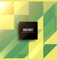Abstract green geometric triangles background vector