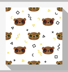 Animal seamless pattern collection with bear 6 vector image