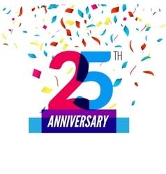 Anniversary design 25th icon vector
