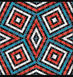 antique tile rhombus pattern mosaic seamless vector image