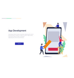 app development for website design web vector image
